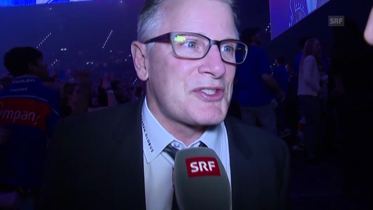 Eishockey: Playoff-Final, Spiel 4, Meisterfeier, Interview Crawford (20.04.2014)