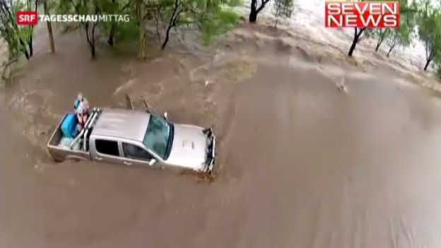 Video «Überschwemmungen in Australien» abspielen
