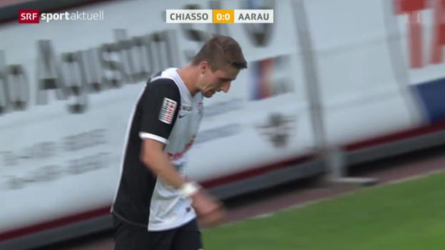 Video «Fussball: Schweizer Cup, Chiasso - Aarau» abspielen