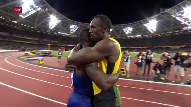 Video «Der 100-m-Showdown zwischen Gatlin und Bolt» abspielen