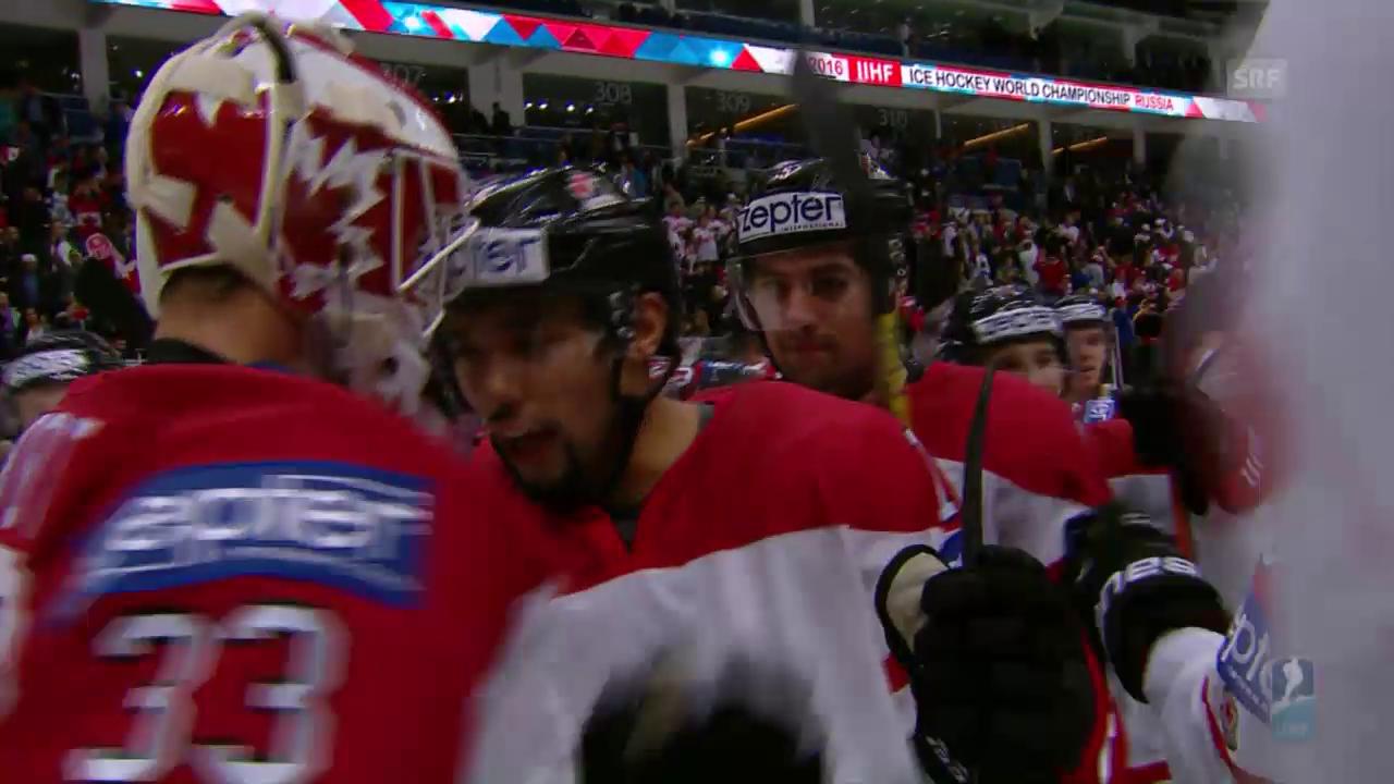 Kanada zittert sich gegen die USA zum Sieg