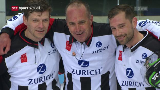 Video «Schiedsrichter Danny Kurmann tritt nach 36 Jahren ab» abspielen