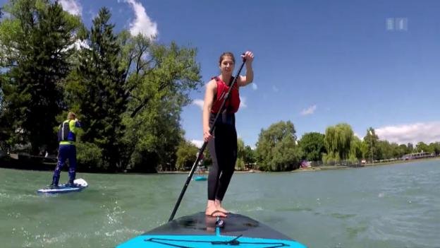 Video «Spass auf dem Wasser: Stand-up-Paddles im Test» abspielen