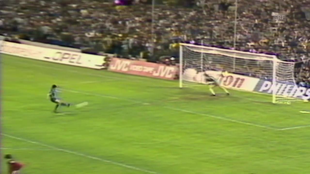 Steaua im Final gegen Barcelona 1986