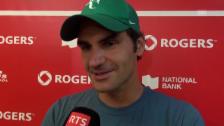 Video «Tennis: Federer zum Halbfinal gegen Lopez» abspielen