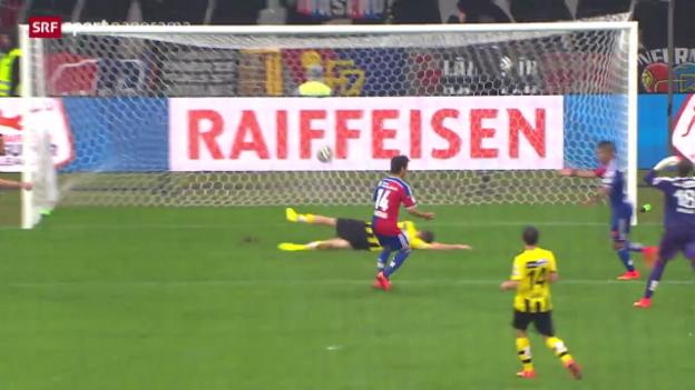 Video «Fussball: Zusammenfassung Basel - YB («sportpanorama» vom 31.8.14)» abspielen