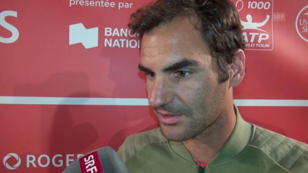 Video «Federer: «US Open ohne Vorbereitung ist nicht einfach»» abspielen
