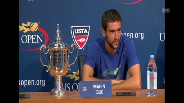 Video «Cilic an der Pressekonferenz über sein Hochgefühl» abspielen