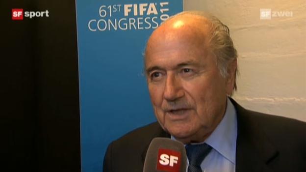 Video «Interview mit Sepp Blatter («sportaktuell»)» abspielen