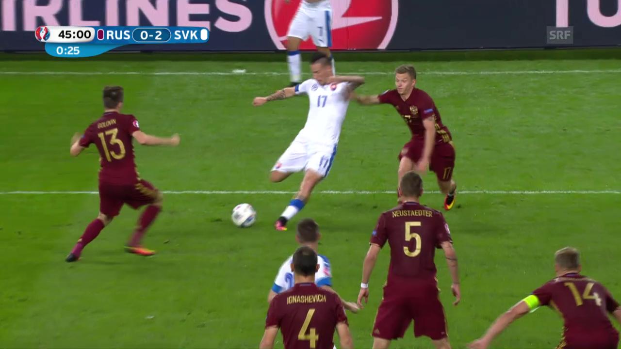 Hamsik erhöht für die Slowakei auf 2:0
