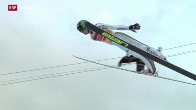 Video «Skispringen: Entscheidung Garmisch-Partenkirchen» abspielen
