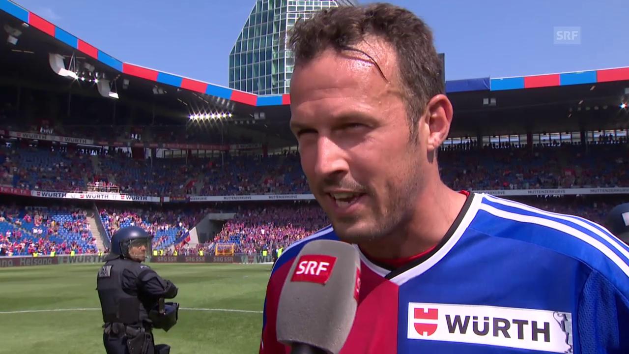 Fussball: Cup-Final, Interview Streller