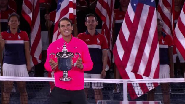 Video «Nadal gewinnt in New York seinen 16. Grand-Slam-Titel» abspielen
