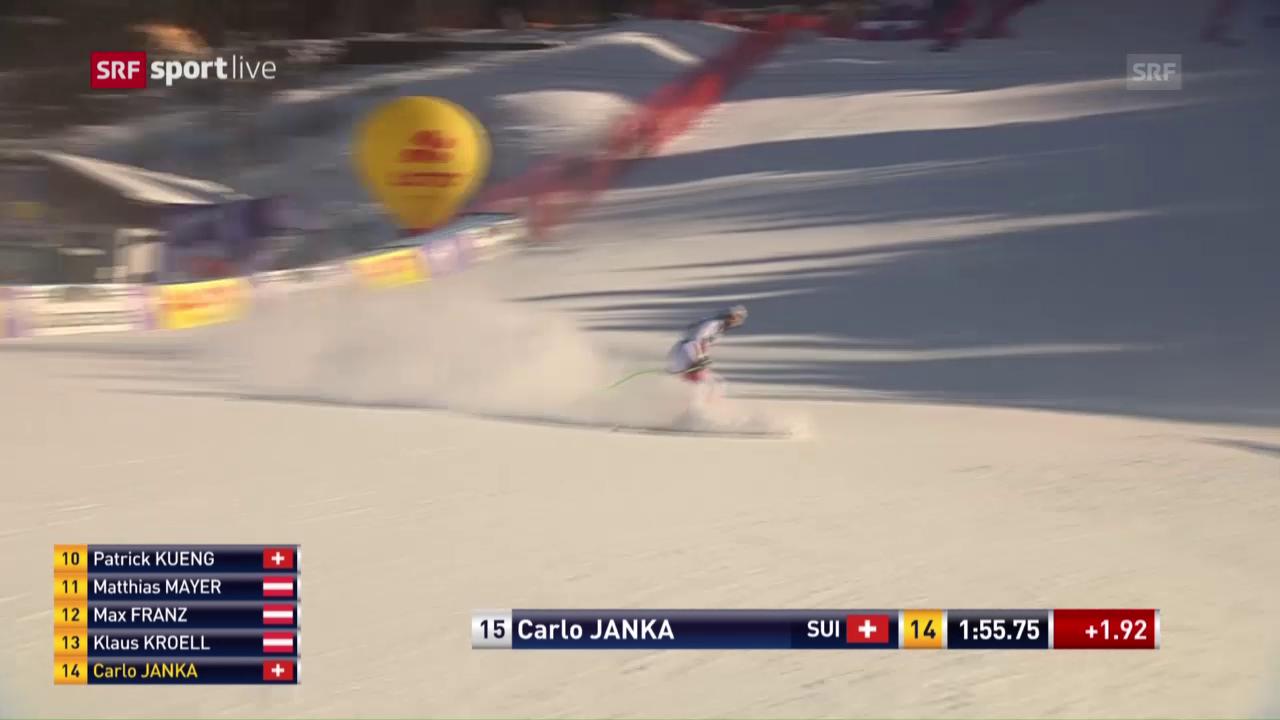 Die Fahrt von Carlo Janka