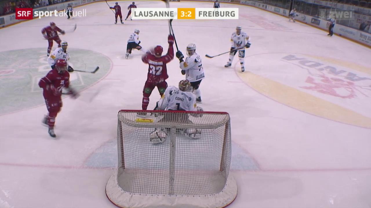 Eishockey: NLA, Lausanne - Freiburg
