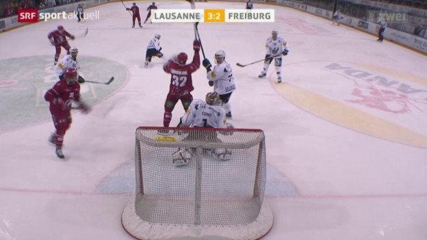Video «Eishockey: NLA, Lausanne - Freiburg» abspielen