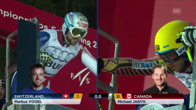 Video «Ski-WM: Teamevent: Vogel-Janyk» abspielen