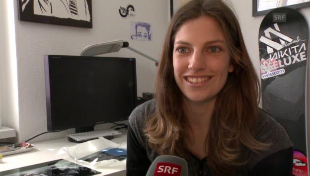 Video «Elena Könz: Künstlerin auf Papier und Piste» abspielen