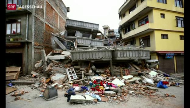 Video «Verheerendes Beben in Nepal» abspielen