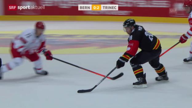 Video «Eishockey: CHL, SC Bern - Trinec» abspielen