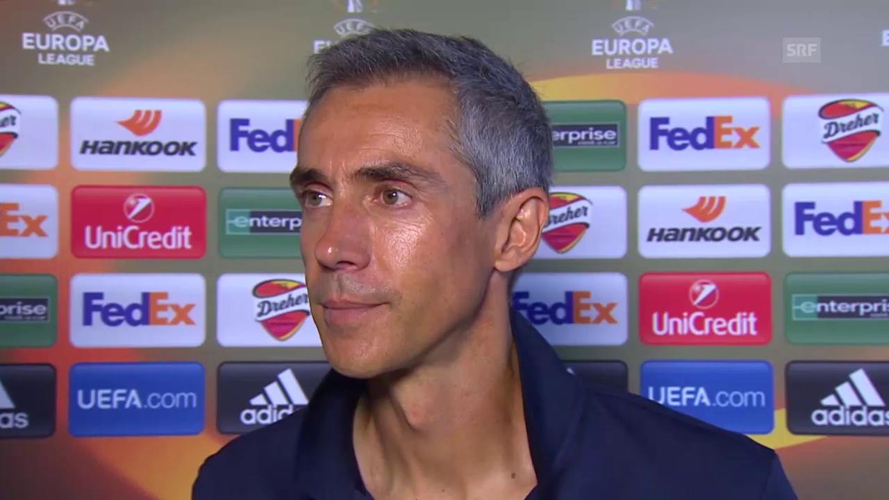 Fussball: Europa League 2015/16, Gruppenphase, 1. Spiel, Fiorentina - Basel, Interview mit Paulo Sousa