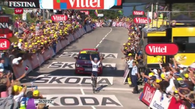 Video «Rad: 20. Etappe der Tour de France («sportaktuell»)» abspielen