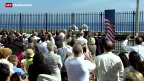 Video «USA hissen Flagge vor Botschaft in Havanna» abspielen