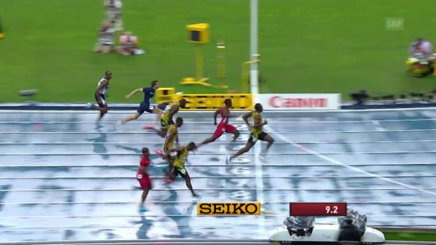 Video «Bolts WM-Gold über 100 m 2013 in Moskau» abspielen