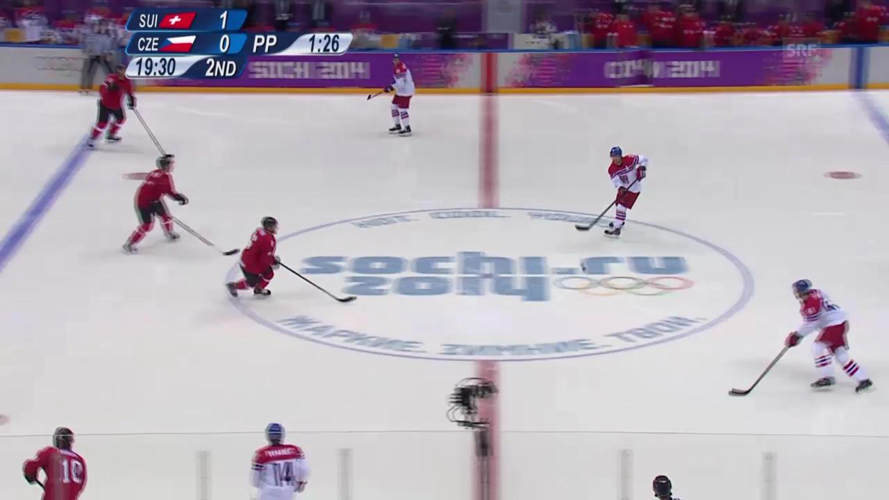 Eishockey: Schweiz - Tschechien (sotschi aktuell, 15.02.2014)