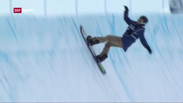 Video «Halfpipe-Weltcupfinal in der Sierra Nevada («sportaktuell»)» abspielen