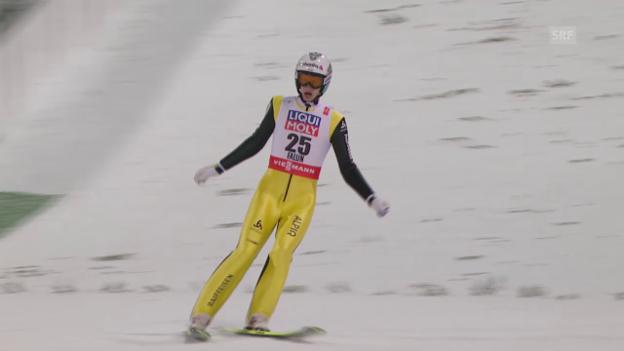Video «Skispringen: Nordisch-WM in Falun, 2. Sprung von Gregor Deschwanden» abspielen