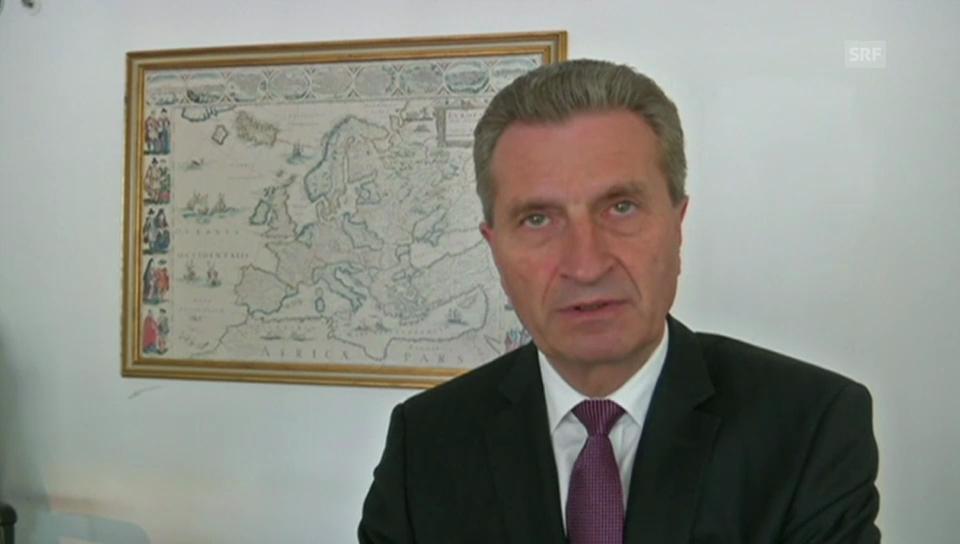 Oettinger: «Es besteht kein Grund zur Angst»