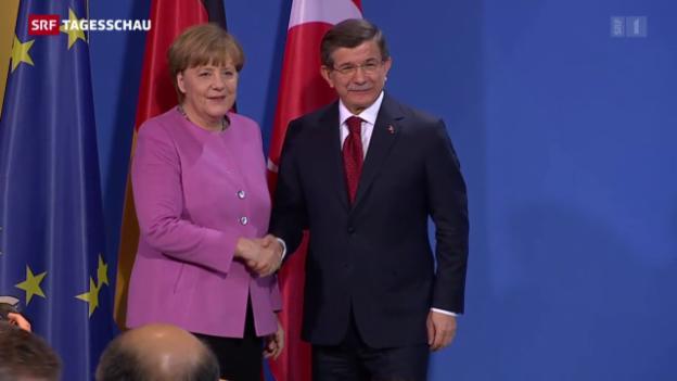 Video «Deutsch-türkisches Treffen mit Symbolkraft» abspielen