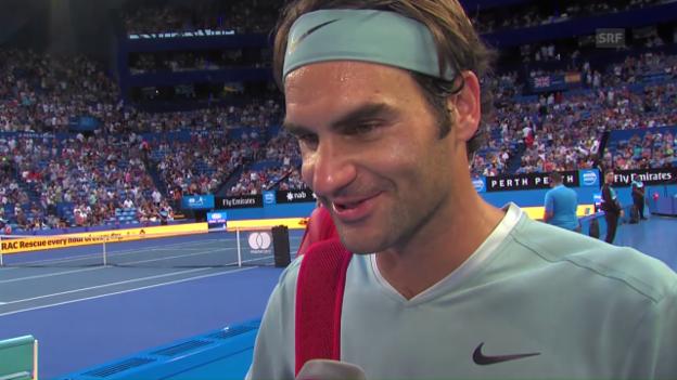Video «Federer: «Hochzufrieden, dass es so gut gelaufen ist»» abspielen