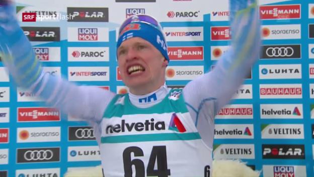Video «Finnischer Langlauf-Coup: Erlösung für Niskanen» abspielen