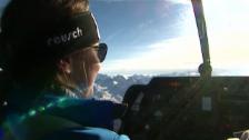 Video «Physik, Kampfjet, Golf - Gisin-Porträt aus den Jahr 2007 («sportpanorama», 21.01.2007)» abspielen