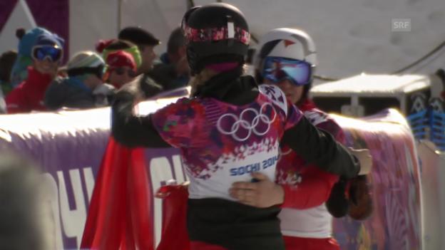 Video «Snowboard: Parallel-RS, Final, 2. Lauf von Nevin Galmarini (sotschi direkt, 19.2.14)» abspielen