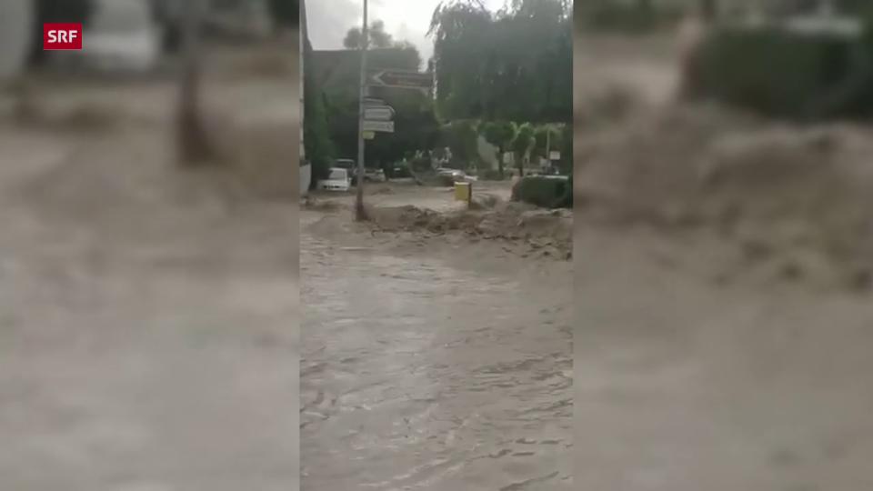 Überschwemmungen in Schleitheim (SH)