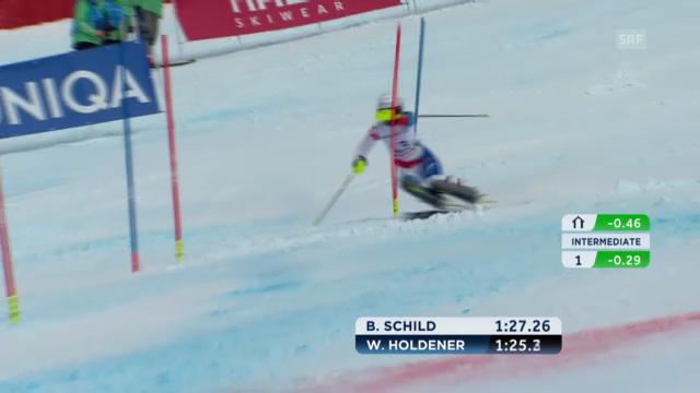 WM-Slalom: 2. Lauf Holdener