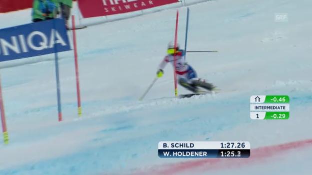 Video «WM-Slalom: 2. Lauf Holdener» abspielen