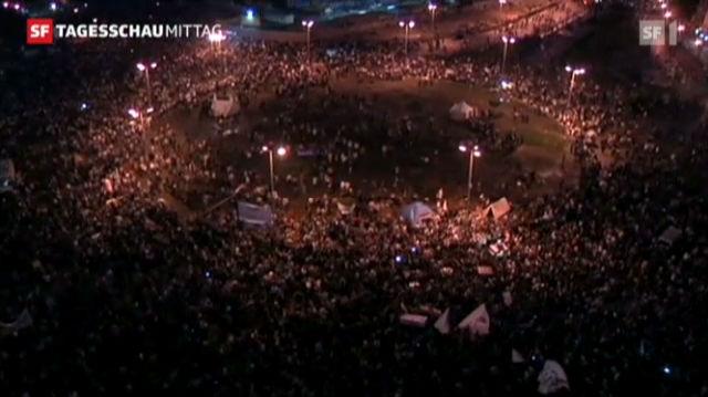 Kairo: Demo gegen Präsident Mursi hält an («Tagesschau am Mittag» vom 24.11.2012)