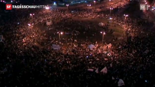 Video «Kairo: Demo gegen Präsident Mursi hält an («Tagesschau am Mittag» vom 24.11.2012)» abspielen