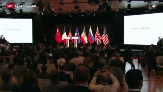 Video «Historische Einigung im Atomstreit mit Iran» abspielen