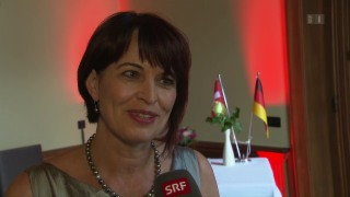 Video «Doris Leuthard: Freundschaftsbesuch in der Berliner Botschaft» abspielen