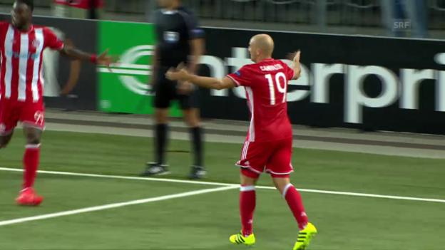 Video «Matchzusammenfassung YB - Olympiakos» abspielen
