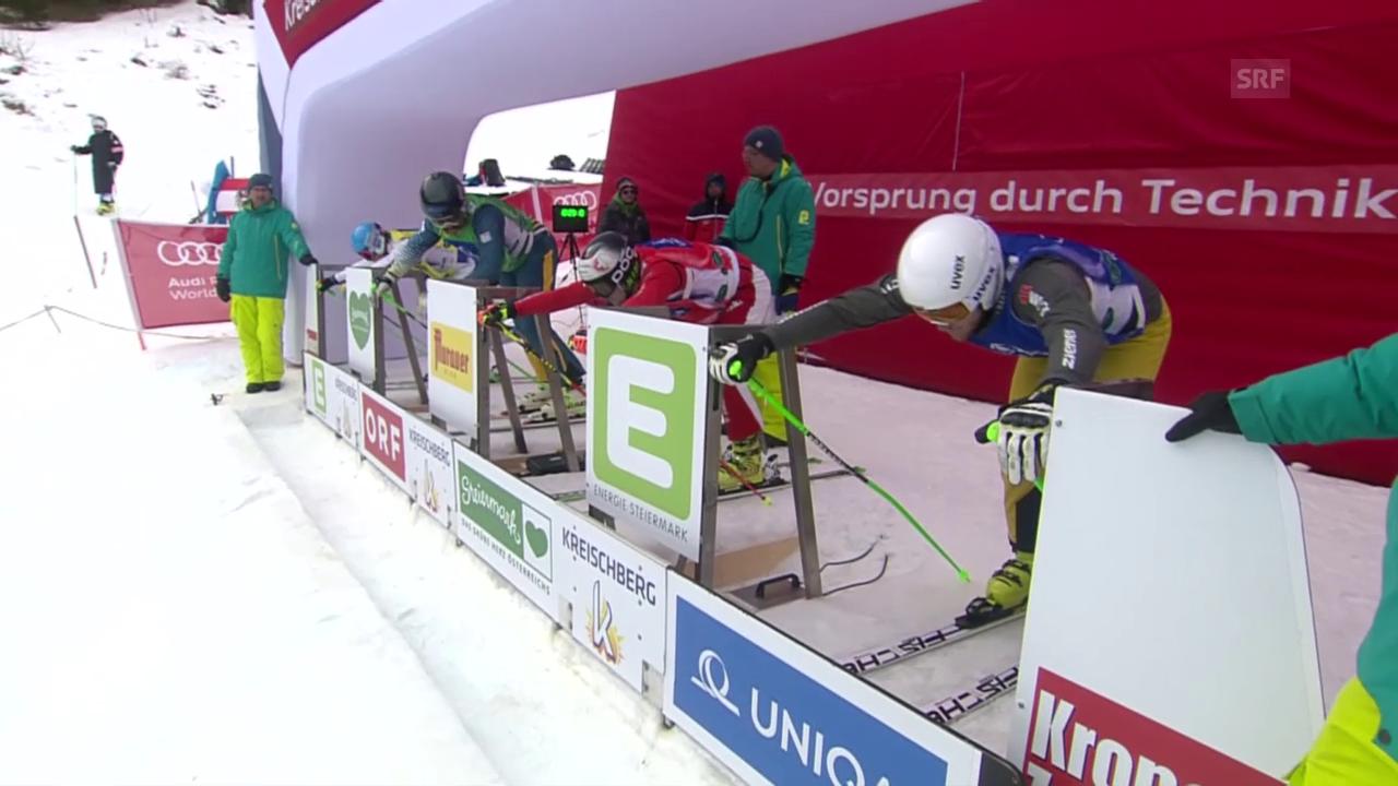 Freestyle-WM in Kreischberg: Skicross, Achtelfinal der Männer mit Armin Niederer