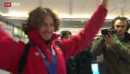 Video «Olympiaheld ist zurück» abspielen