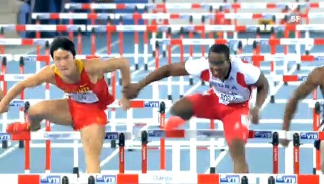 LA-WM: Dayron Robles' Vergehen an Xiang Liu über 110 m Hürden