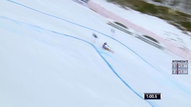Video «Ski alpin: Riesenslalom Männer Val d'Isère, 1. Lauf von Gino Caviezel («sportlive»)» abspielen