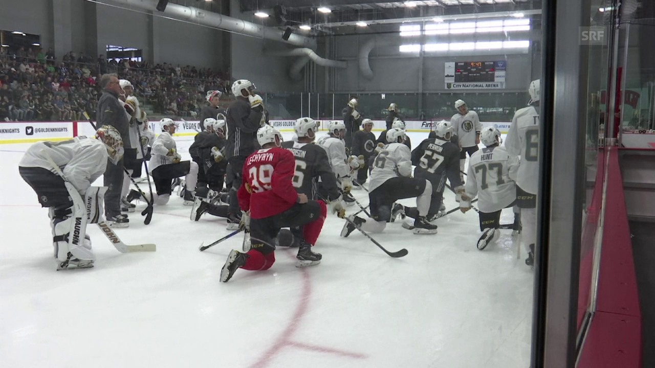 Einblick in das Training der Golden Knights